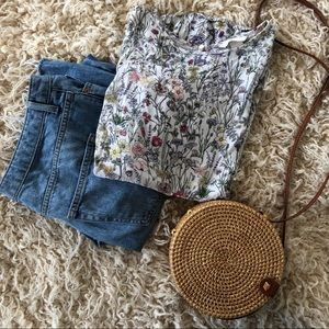 Wildflower print top